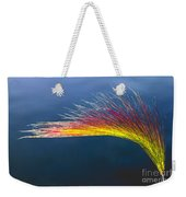 Red Tipped Grass Weekender Tote Bag by Robert Bales
