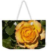 Red-tipped Yellow-orange Rose Weekender Tote Bag
