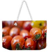 Red Tomatoes At The Market Weekender Tote Bag by Heather Applegate