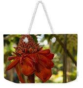Red Torch Ginger Lily In Hawaii Weekender Tote Bag