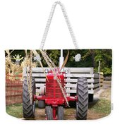 Red Tractor Ready To Roll Weekender Tote Bag