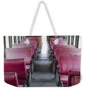 Red Train Seats Weekender Tote Bag