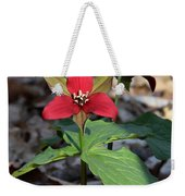Red Trillium Weekender Tote Bag