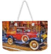 Red Truck Photo Art Weekender Tote Bag
