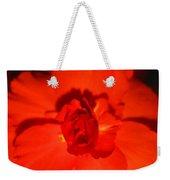 Red Tuberous Begonia Weekender Tote Bag