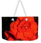 Red Tuberous Begonia Flower Weekender Tote Bag