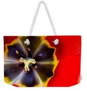 Red Tulip Macro Weekender Tote Bag