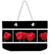 Red Tulip Triptych Weekender Tote Bag