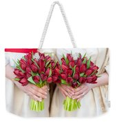 Red Tulip Weddding Bouquets Weekender Tote Bag