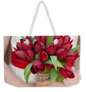 Red Tulip Wedding Bouquet Weekender Tote Bag