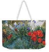 Red Tulips And Geese  Weekender Tote Bag