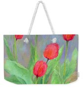 Red Tulips Colorful Painting Of Flowers By K. Joann Russell Weekender Tote Bag