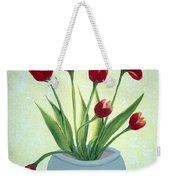 Red Tulips In A Pot Weekender Tote Bag
