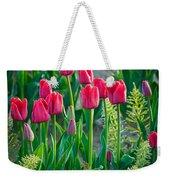 Red Tulips In Skagit Valley Weekender Tote Bag by Inge Johnsson
