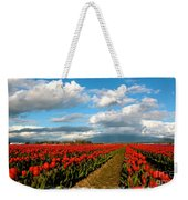 Red Tulips Of Skagit Valley Weekender Tote Bag