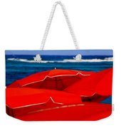Red Umbrellas  Weekender Tote Bag