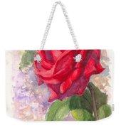 Red Valentine Rose Weekender Tote Bag