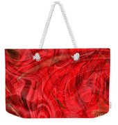 Red Veil Abstract Art Weekender Tote Bag