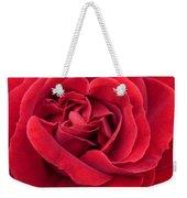 Red Velvety Rose Weekender Tote Bag