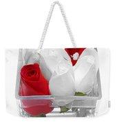 Red Versus White Roses Weekender Tote Bag