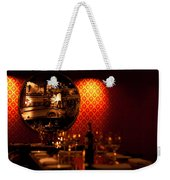 Red Wall And Dinner Table Weekender Tote Bag