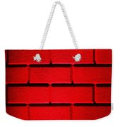 Red Wall Weekender Tote Bag by Semmick Photo