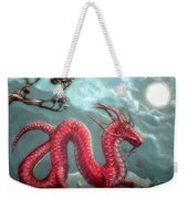 Red Water Dragon And Tree Weekender Tote Bag