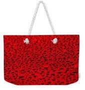 Red Water Drops On Water-repellent Surface Weekender Tote Bag