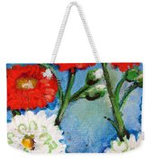 Red White And Blue Flowers Weekender Tote Bag