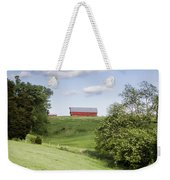 Red White And Blue Weekender Tote Bag by Heather Applegate