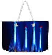 Indian River Inlet Bridge As Seen North Of Bethany Beach In This Award Winning Perspective Photo Weekender Tote Bag