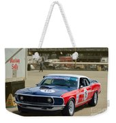 Red White And Blue Mustang Weekender Tote Bag