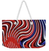Red White And Blue Weekender Tote Bag by Sarah Loft