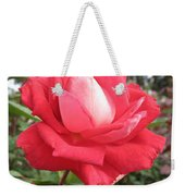 Red-white Rose Weekender Tote Bag