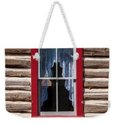 Red Window Log Cabin - Idaho Weekender Tote Bag