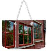 Red Windows Paned Weekender Tote Bag