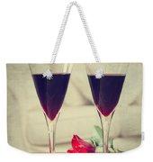 Red Wine And Roses Weekender Tote Bag