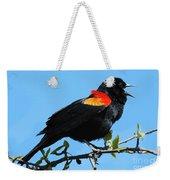 Red Wing Blackbird 2 Weekender Tote Bag