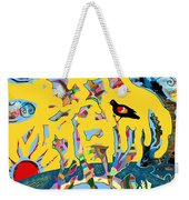 Redwing Blackbird Sunrise Weekender Tote Bag