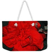 Red Winter Rose Weekender Tote Bag