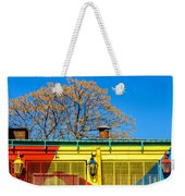 Red Yellow And Blue Building Weekender Tote Bag