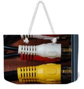 Red Yellow And White Cables Weekender Tote Bag