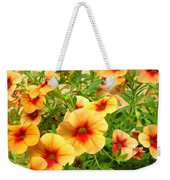 Red Yellow Morning Glories Weekender Tote Bag