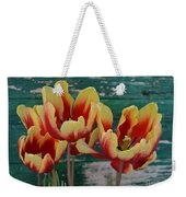 Red Yellow Tulips Weekender Tote Bag