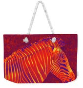 Red Zebra Weekender Tote Bag