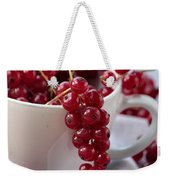 Redcurrant Close Up Weekender Tote Bag