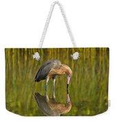 Reddish Egret Reflection Weekender Tote Bag