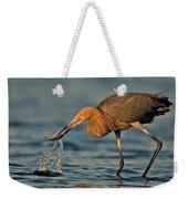 Reddish Egret Strike Weekender Tote Bag