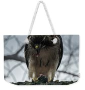 Redtail Hawk And Mouse Weekender Tote Bag