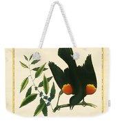 Redwing Blackbird Square Weekender Tote Bag